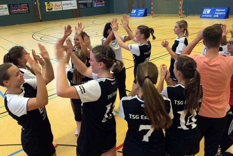 Die neu formierte A-Jugend kurz vor dem Anpfiff beim TSV Schwabmünchen.